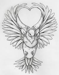 drawn turtle dove heart pencil and in color drawn turtle dove heart