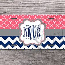 monogrammed plate gray black and turquoise chevron custom from monogramcase on
