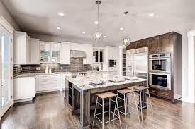 luxury transitional style home staging design by white orchid transitional kitchen with subway tiles