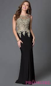 Black And Gold Lace Prom Dress High Neck Sleeveless Long Dress Promgirl