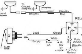 spotlight wiring diagram with relay wiring diagram