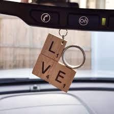 2014 diy ornaments ideas scrabble car rearview mirror