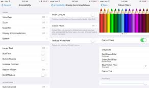 Blue Yellow Color Blind How To Enable Screen Filters To Help With Color Blindness In Ios 10