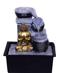 purpledip feng shui buddha water fountain with rolling ball for