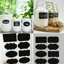 40pcs new wedding home kitchen jars blackboard stickers chalkboard