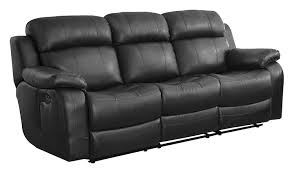 Black Leather Sofa Recliner Homelegance Marille Reclining Sofa W Center Console