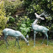 delightful deer garden ornaments sculptures small