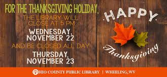 news thanksgiving hours and closings ohio county library