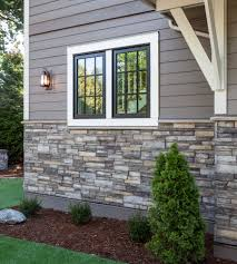 Mountain Home Exteriors Home Exterior Entrance Sterling Ledgestone Versetta Stone