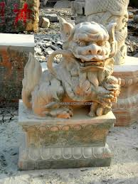 fu dog statues fudog statue marble sculpture foo dog temple lion garden carvings