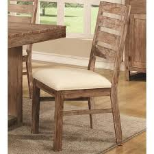 distressed wood table and chairs madison distressed acacia wood dining chairs set of 2 neutral