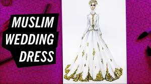 how to draw a muslim wedding dress 8 fashion drawing youtube