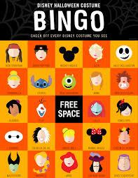 Free Halloween Bingo Cards Printable Disney Halloween Costume Bingo Oh My Disney