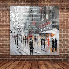 Handmade In New York - unframed abstract modern landscape new york city view