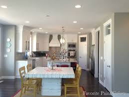 favorite paint colors blog dorian grey sw kitchen all lights on