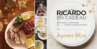 ricardo cuisine noel magazine cartes ricardo ricardo