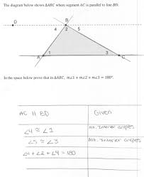The Interior Angles Of A Triangle Always Add Up To Triangle Sum Proof Students Are Asked Prove That The Measures Of
