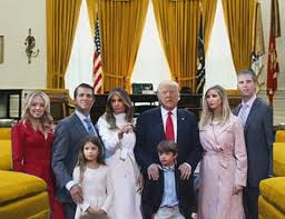first visit of trump family to oval office the ave us