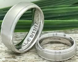 titanium wedding ring sets titanium ring set etsy