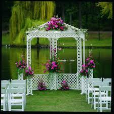 wedding arbor rental gazebo white lattice av party rental