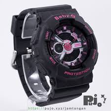 Jam Tangan Baby G Warna Merah jual baby g ba 111 1a black pink jam tangan pujo xyz