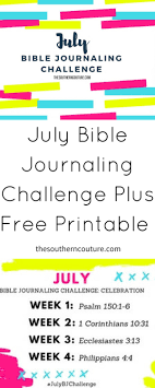 july bible journaling challenge plus free printable southern couture
