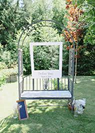 Wedding Photo Booth Ideas Bride Ca Real Wedding Emilie U0026 Jan Rustic Backyard U0026 Very Diy