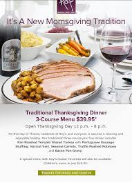 traditional thanksgiving dinner at roys restaurant in rancho mirage