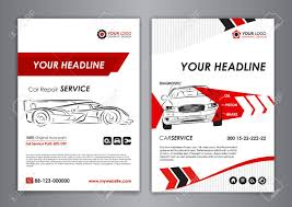 porta da auto auto repair brochure templates mockup flyer abstract arrow