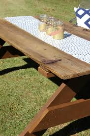 How Do I Build A Wooden Picnic Table by The Diy Designer Barn Door Picnic Table Nooga Com