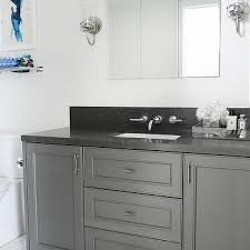gray granite bathroom countertop design ideas