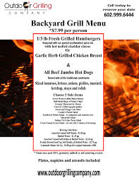 Backyard Grill Company by Menu Outdoor Grilling Company