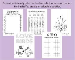 wedding coloring activity book reception game kid u0027s