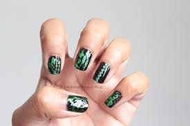 gothic holographic nail art the indian beauty blog