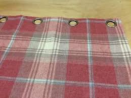 Pink Tartan Curtains Next Woven Check Stirling Tartan Lined Eyelet Curtains