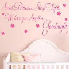 baby wall sticker quote personalised sweet dreams girl child baby wall sticker quote personalised sweet dreams girl child nursery decal art ebay