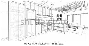 kitchen sketch stock images royalty free images u0026 vectors