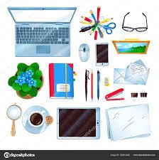 jeux de travail dans un bureau jeu de travail de bureau avec ordinateur image vectorielle