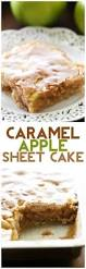 caramel apple sheet cake recipe caramel apples caramel