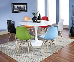 Multi Coloured Chairs by Coloured Table And Chairs Oslo Walnut Extending Dining Table And