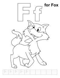 free alphabet coloring pages f for fox alphabet coloring pages