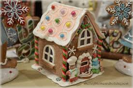 gingerbread bakery with light shelley b home and