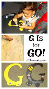 toddler letter craft and activity g is for go all done monkey