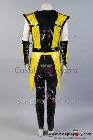 Mortal Kombat Scorpion Halloween Costume Mortal Kombat Ninja Scorpion Yellow Black Cosplay Costume