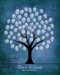 winter wedding fingerprint guestbook tree diy printable snow