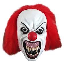 it clown halloween mask clown scary latex mask top hat fancy dress halloween blue hair 1st