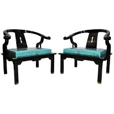 Oriental Chairs Exquisite Pair Of Hand Carved Ming Style Rosewood Lounge Chairs