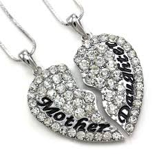 ebay necklace heart images Cute mom mother daughter best friend mother 39 s day heart pendant jpg