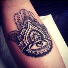 latest hamsa tattoo design for sleeve by kristi walls