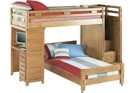 Creekside Taffy Twin Twin Step Bunk Bed With Desk Beds Light Wood - Rooms to go bunk bed